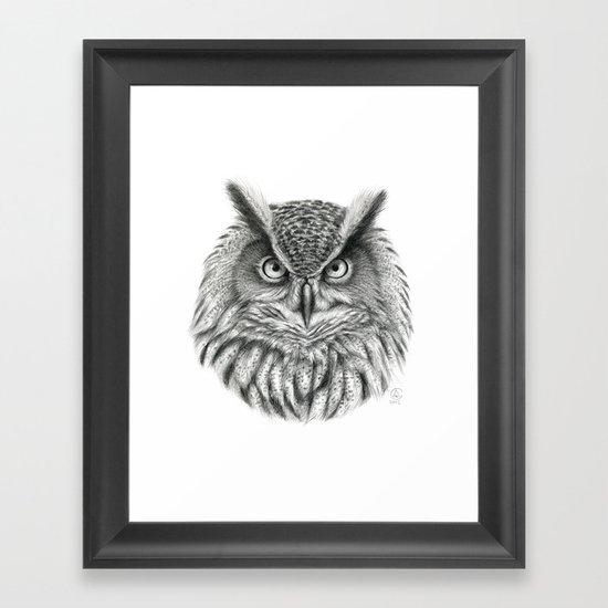 Bubo bubo G2012-046 owl Framed Art Print
