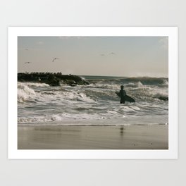 Let your wave crash down Art Print