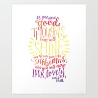 roald dahl Art Prints featuring You Will Always Look Lovely [Roald Dahl] by Jillian Kaye