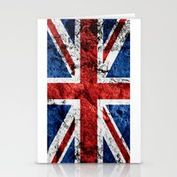 british flag Stationery Cards featuring British Flag by TOJO Art