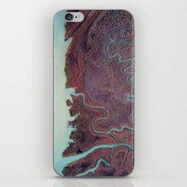 blu water through red land iPhone Skin