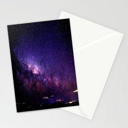 Purple Blue Milky Way Landscape Stationery Cards