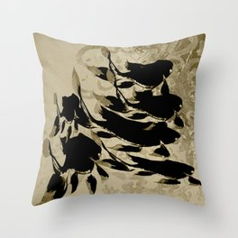 Shoal in the Dark Throw Pillow