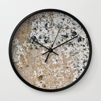 concrete Wall Clocks featuring Concrete by Herzensdinge