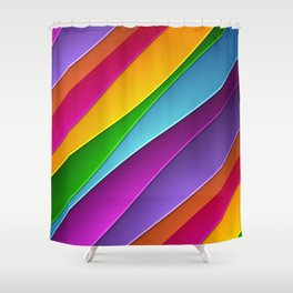 Layered Rainbow Shower Curtain