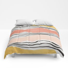 Modern irregular Stripes 01 Comforters