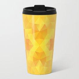 Kaleidoscopic design in warm yellow colors Travel Mug