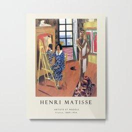 Poster-Henri Matisse-Artiste et modele. Metal Print