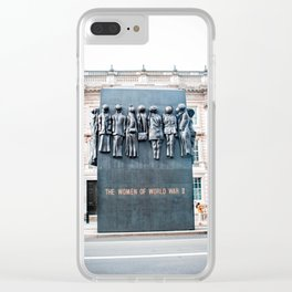 The Women Of World War II Monument - London Clear iPhone Case