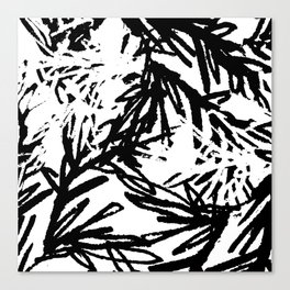 naturally, black and white/ part I Canvas Print