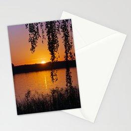 Beautiful sunset over lake #2 Stationery Cards
