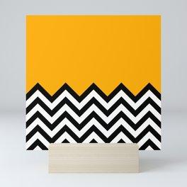 Chevron mix up color concept Mini Art Print