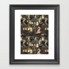 haunted castle Framed Art Print