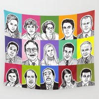 the office Wall Tapestries featuring The Office by turddemon