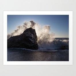 Bodega Bay Waves Art Print