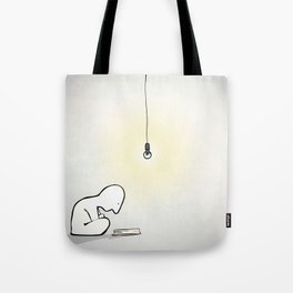Late Night Reader Tote Bag