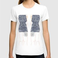 stripes T-shirts featuring Stripes by Elly Liyana