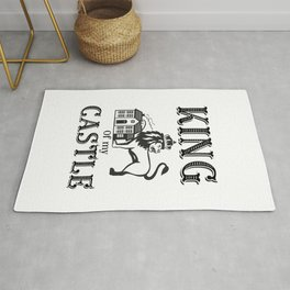 King of my castle Rug