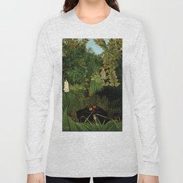 "Henri Rousseau ""Merry jesters"", 1910 Long Sleeve T-shirt"