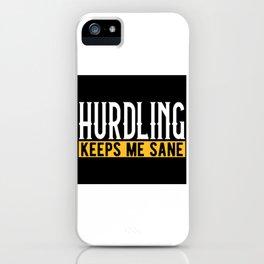 Hurdle Race Lovers Gift Idea Design Motif iPhone Case