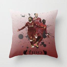 Liverpool trio attack Throw Pillow