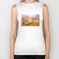 30 rock Biker Tanks featuring THE ROCK by Bruce Stanfield