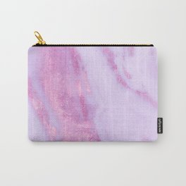 Shimmery Pink Rose Gold Marble Metallic Carry-All Pouch