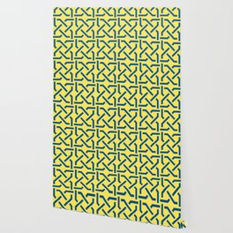 Abstract yellow-blue pattern Wallpaper