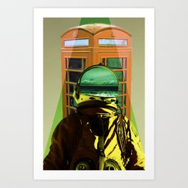 Poppin' out to make a phone call...won't be long! Art Print