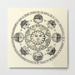Horoscope Astral Wheel Metal Print