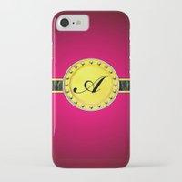 monogram iPhone & iPod Cases featuring Monogram by Precious Art Print