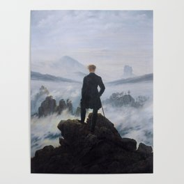 Wanderer above the Sea of Fog Painting by Caspar David Friedrich Poster