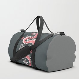 There is nothing as eloquent as a rattlesnake's tail, inspirational quote Duffle Bag
