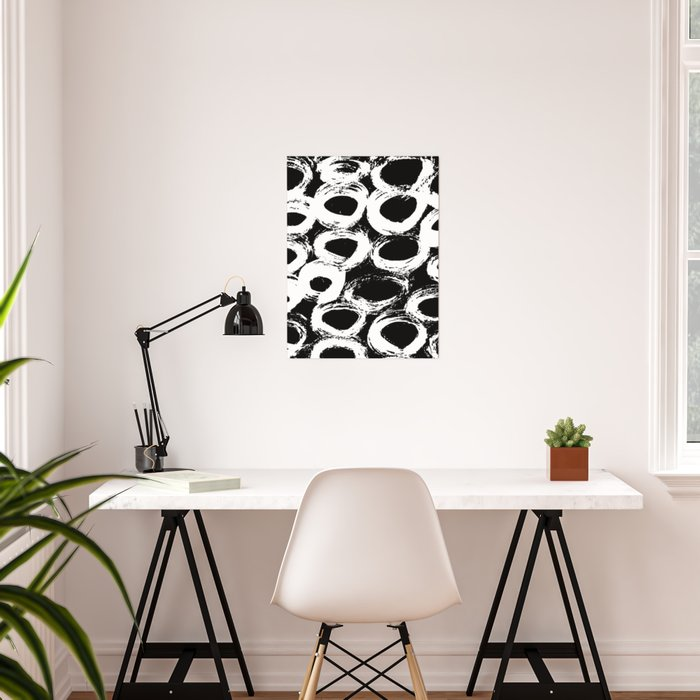 Minimal [4]: a simple, black and white pattern by Alyssa Hamilton Art Poster