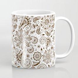 Mehndi or Henna Flowers Coffee Mug