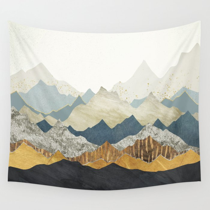 Distant Peaks Wandbehang