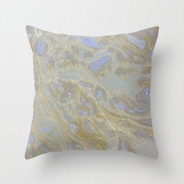 Golden river delta Throw Pillow