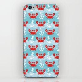 Anchor's Away Crab iPhone Skin