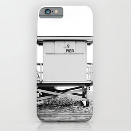 Beach Photography black and white print iPhone Case
