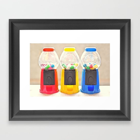 Bubble Gum in Primary  Framed Art Print