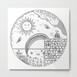 Turtle finds a pot of Gold Metal Print