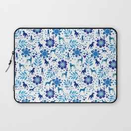 FLOWERS WEIMS AND HEARTS Laptop Sleeve