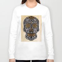 calavera Long Sleeve T-shirts featuring CALAVERA by Nick Potash
