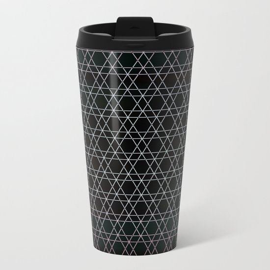 Black Diamonds Metal Travel Mug