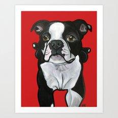 Bobo the Boston terrier Art Print