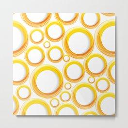 Yellow Cicles 01 Metal Print