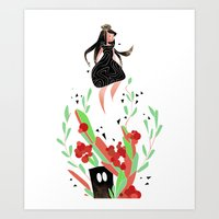 Monsters under your bed Art Print