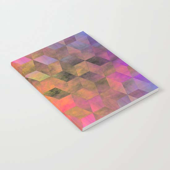 Stacked Sky (magenta-coral-ochre) Notebook