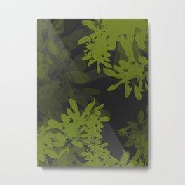 Minimal Leafs Metal Print