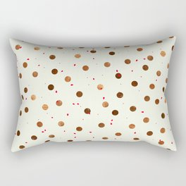 Copper Polka Dots With Red Hint Pattern Rectangular Pillow
